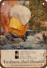 1964 Hamm's Beer and Canoeing Vintage Look Reproduction Metal Sign