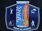 2012 SAM ADAMS BEER CAN TIN SIGN FISH HIKE GOLF RELAX NOW ALLOWED BOSTON LAGER