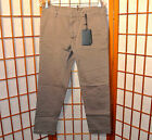 DSQUARED2 NEW VINTAGE RUNWAY CHINO GRAY PATCH CASUAL PANTS JEANS 29 30 44 46