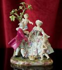 19th Century MEISSEN Porcelain Figural Group with Tree