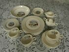 Vtg Salem Coronet China Currier Ives Winter Scene 54W 23K Gold 40 Pc Set UNUSED