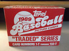 1989 Topps Traded Factory Boxed Set - 132 Cards - Ken Griffey, Jr. RC verified