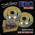 EBC TURBO GROOVE FRONT DISCS GD286 FOR YUGO FLORIDA 1.6 2002-08