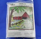 Family Circle COVERED BRIDGE Crewel Embroidery Kit Vintage 1974 SEALED PACKAGE