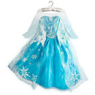 Girls Frozen Disney Princess Elsa Dress Cosplay Fancy Costume SZ 6-7 Xmas Gift