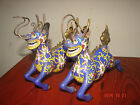 Fine Pair of Antique Chinese Cloisonne Qilin/Dragon Figures Statues