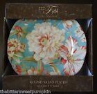222 Fifth~FINE TABLEWARE~MARLEY TEAL~SET OF FOUR (4) SALAD PLATES~8.5 INCH~BNIB!