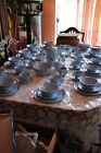 87+pc Homer Laughlin Skytone Stardust Set Blue Clay Vintage Like New Condition