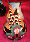 VINTAGE SMF GERMANY WHEELOCK BLACK FOREST HANDPAINTED 55 POTTERY VASE 2926