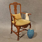Elm Study Desk Elbow Chair Large Wide Quality Armchair c1800