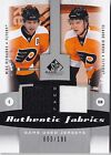2010-11 SP GAME USED MIKE RICHARDS CLAUDE GIROUX DUAL AUTHENTIC FABRICS # 3 100