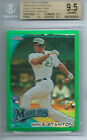 2010 Topps Chrome GREEN REFRACTOR Redemption Mike Giancarlo Stanton BGS 9.5 RC