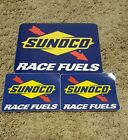 SUNOCO Decals NHRA,NASCAR,RACING,YOU GET 2 plus 2 extra.. 6 3/4 by 5 1/4 SIZE..