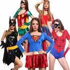Lady Fancy Dress Girls Super Hero Girl Wonder Woman Costumes Superwoman Outfit