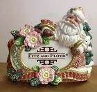 Fitz And Floyd Christmas Santa Store Display Advertising Figurine Statue Rare