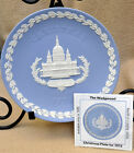 Wedgwood Blue Jasperware Plate St.Paul's Cathedral Christmas 72' Box