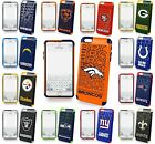 iPhone 6 Plus Licience NFL Football Hard Soft Rubber Defender Hybrid Case Cover