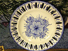 Vestal Plate  Hand Painted  Alcobaca Portugal    Blue & White