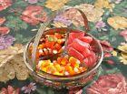 Depression Era Divided Candy Dish/Relish Tray with Metal Carrier