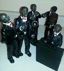 African American Five piece Jazz band figurines