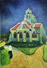 CHURCH AT AUVERS MODERN ART VAN GOGH OLD MASTER REPRO OIL PAINTING LARGE 24X36