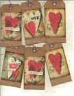 12 PRIMITIVE TAGS~Primitive at Heart!~HANG TAGS~folk