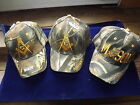 3 Different Embroidered Masonic Ball Style Caps Camouflage Mason NEW