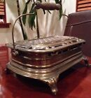 Vintage Victorian Foot Warmer. Cast Iron And Brass