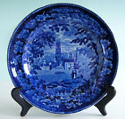 Historical Staffordshire  ~ PANORAMIC SCENERY ~ Dark Blue Transferware Plate NR