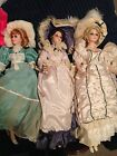 (6) CARMELA COLLECTION, DYNASTY DOLL Porcelain DOLLS LOT VICTORIAN DOLLS
