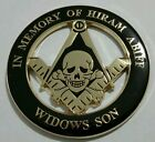Freemason Masonic Hiram Abiff Widows Son Cut-Out Car Emblem (Part# CE 29)