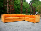 Vintage 60's Mid 20th Century Modern Harvey Probber 2pc Sectional Sofa Eames Era