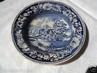 ANTIQUE BLUE AND WHITE ENGLISH TRANSFERWARE CHINA DEEP DISH BOWL 10 IN DIA.