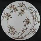Antique 19th C Brown Transfer Ironstone Plate Platter P B & S Tokio Cherry Bloss