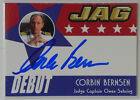 JAG Corbin Bernsen D18 autograph card Catherine Bell LA Law Psych Major League