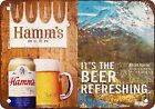 Hamm's Beer and Mount Ranier Vintage Look Reproduction Metal Sign