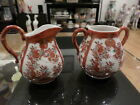 Beautiful Antique Japanese Kutani Creamer and Sugar Bowl Signed