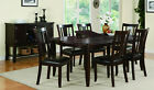 Mission Style Dining Table Chair Set 6 chairs Brown Luxury Classic Leaf