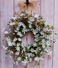SPRING SUMMER WREATH FLORAL COUNTRY WHITE DAISY TWIG DOOR WREATH WALL DECOR