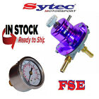 FSE Sytec Adjustable Fuel Pressure Regulator 1:1 & Gauge 1-5 bar purple SAR001P