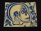 Original Day Of The Dead Dia De Los Muertos Sugar Skull Blue  Painting Signed