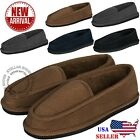 New Mens House Slippers Corduroy Moccasin Slip on Men Shoes Male Size 5 14