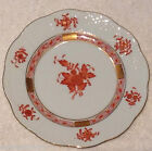 ❤Herend Chinese Bouquet Bread Butter Plate Orange Gold Hungary Handpainted 514❤
