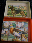 Vintage Wood Block 12 Piece Puzzle (German) in Plastic Case w/extra pictures