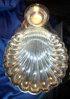 LARGE CLAM Shell Shrimp Silver Plate Tray 1970 Vintage  Wm Rogers  Serving Bowl