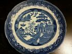 Blue willow plate,dish ,platter, very old, made in England