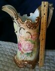 Ewer pitcher finely decorated in roses NIPPON Hand Painted Gold