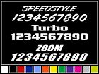 Custom Vinyl Race Numbers Racing Registration Decal Stickers Jdm Illmotion Sport
