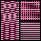 Hydro-Turf Sheet Material Cut Diamond 2Tone Black/Pink