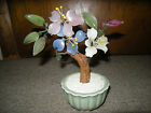 VINTAGE ASIAN CHINESE JAPANESE JADE GLASS FLOWERS IKEBANA BONSAI  CELADON VASE
